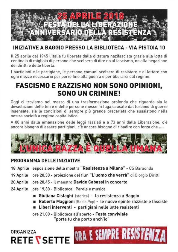 25 aprile 2018 a Baggio