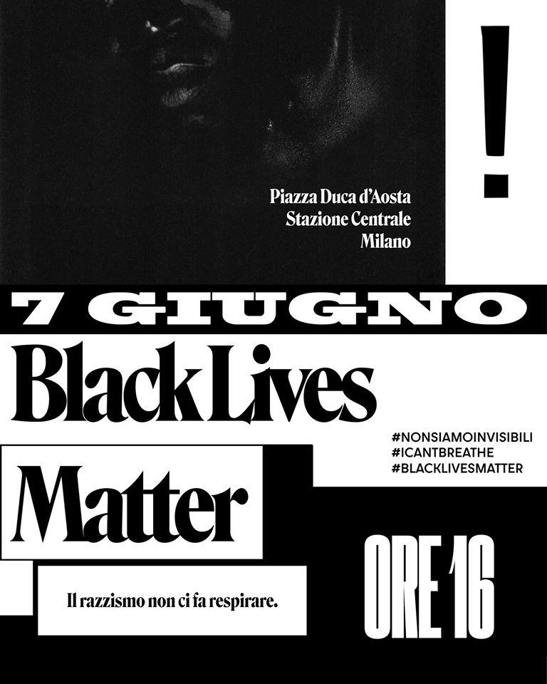 7 giugno 2020 – Black lives matter – il razzismo non fa respirare