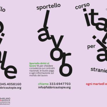 Sportelli, consulenze, corsi di italiano per stranieri