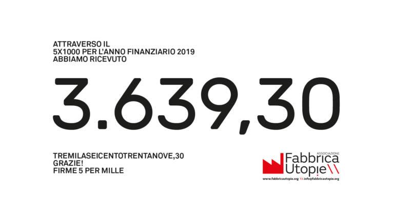 cinque per mille anno 2019