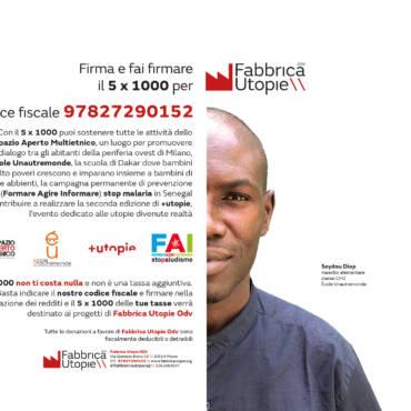 Firma e fai firmare il 5 x 1000 per Fabbrica Utopie Odv